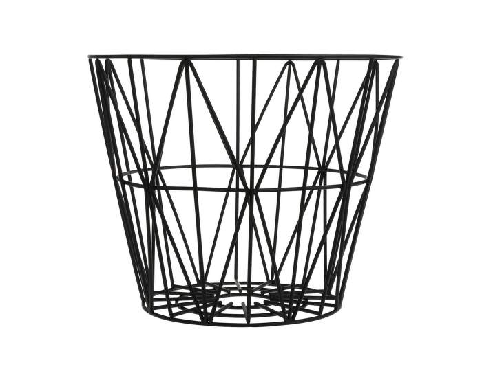 Wire Basket Large, Black