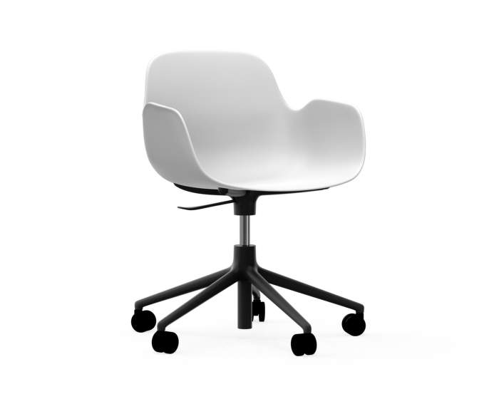 Židle Form Armchair Swivel 5W Gaslift Black Alu, white