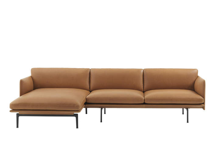 Outline Leather Chaise Longue