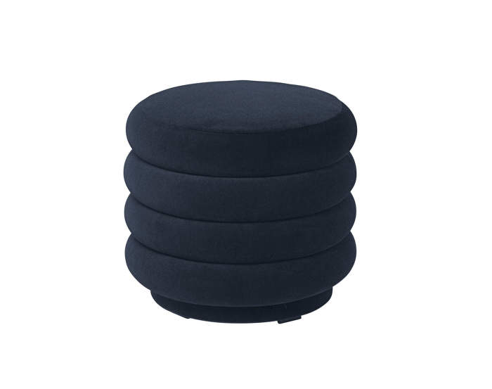 Pouf Round small, dark blue