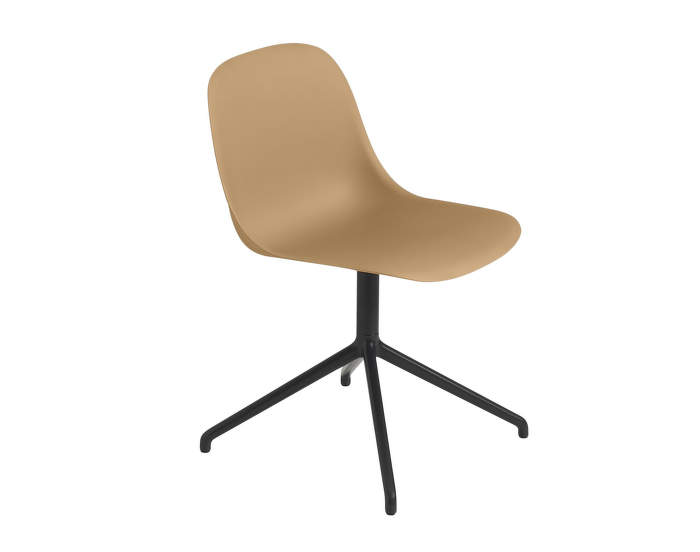 Fiber Side Chair Swivel, ochre