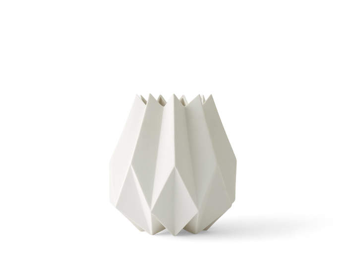 Folded Vase, Tall, White