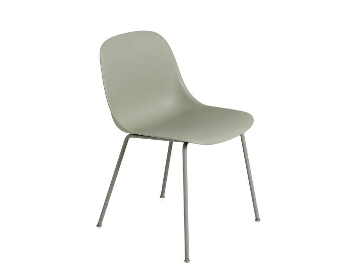 Židle Fiber Side Chair, kovová podnož, Dusty Green