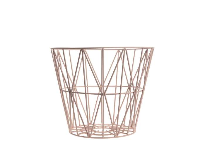 Wire Basket Small, Rose