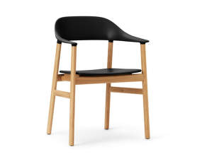 Židle Herit Armchair Oak, black