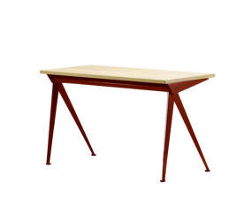 Stůl Compas Direction, solid natural oak top table/Japanese red base