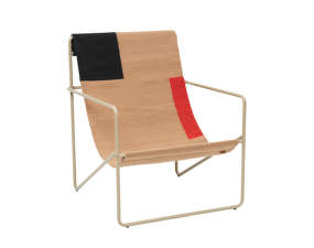 Křeslo Desert Lounge Chair, cashmere/block