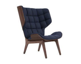 Křeslo Mammoth, dark stained oak / Wool - Navy Blue 1007