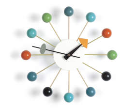 Hodiny Vitra Ball Clock, multicolor