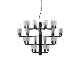 Lustr Amp Chandelier Large, smoke/black