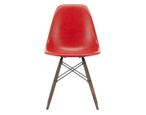 Židle Eames Fiberglass DSW, red/dark maple