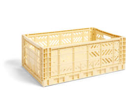 Úložný box Crate L, light yellow