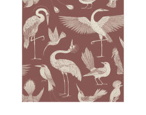 Tapeta Katie Scott Birds, dusty red