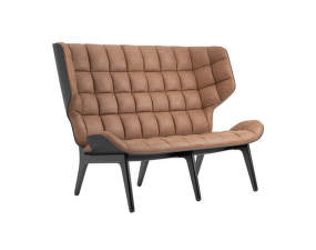 Sofa Mammoth, black oak / Dunes Leather - Camel 21004