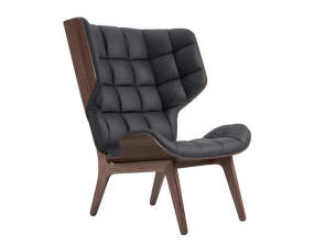 Křeslo Mammoth, dark stained oak / Dunes Leather - Anthracite 21003