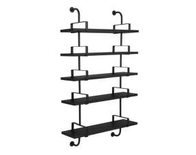 Police Démon Shelf 2, 95cm, 5 shelves, black stained ash