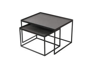 Konferenční stolky Rectangle tray coffee table set, small/large
