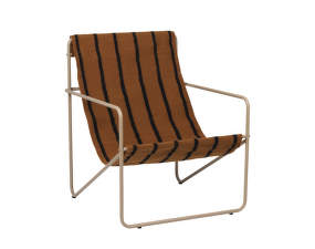 Křeslo Desert Lounge Chair, cashmere/stripes