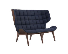 Sofa Mammoth, dark stained oak / Wool - Navy Blue 1007