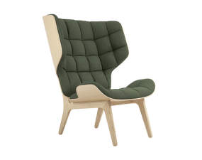 Křeslo Mammoth, natural oak / Wool - Forest Green 053