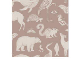 Tapeta Katie Scott Animals, dusty rose