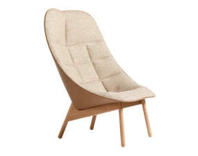 Křeslo Uchiwa Quilt, lacquered solid oak, BOLGHERI LGG60/Silk Sil0258