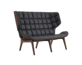 Sofa Mammoth, dark stained oak / Dunes Leather - Anthracite 21003