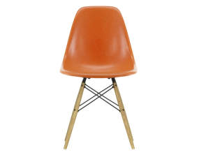 Židle Eames Fiberglass DSW, red orange/ash