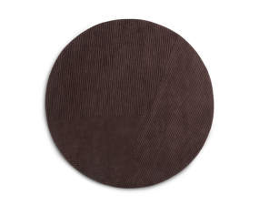 Koberec Row circular, dark brown