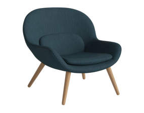 Křeslo Philippa Armchair, Baize - Fabric, Dust Blue, Oiled Oak
