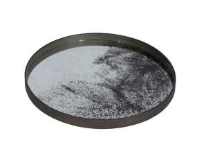 Tác Mirror Tray Round L, clear