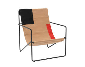 Křeslo Desert Lounge Chair, black/block