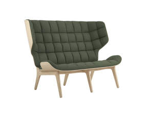Sofa Mammoth, natural oak / Wool - Forest Green 053