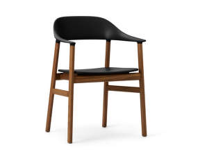 Židle Herit Armchair Smoked Oak, black