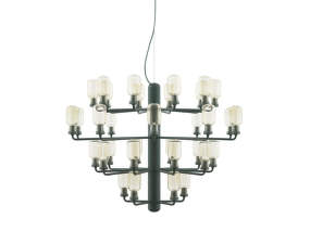 Lustr Amp Chandelier Large, gold/green