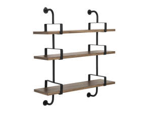 Police Démon Shelf 2, 95cm, 3 shelves, walnut