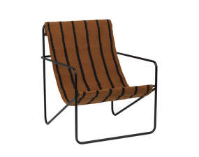 Křeslo Desert Lounge Chair, black/stripes