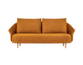 Pohovka New Wave - two seater, Natural Oak / Linen - Burned Orange 6
