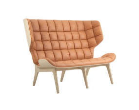 Sofa Mammoth, natural oak / Dunes Leather - Cognac 21000