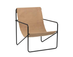 Křeslo Desert Lounge Chair, black/solid cashmere