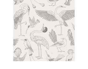 Tapeta Katie Scott Birds, off-white