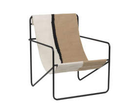 Křeslo Desert Lounge Chair, black/soil