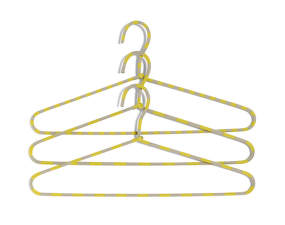 Ramínko Hay Cord Hanger Stripe, yellow, set 3ks