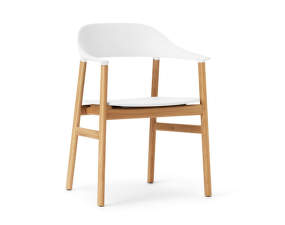 Židle Herit Armchair Oak, white