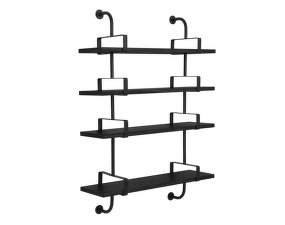 Police Démon Shelf 2, 95cm, 4 shelves, black stained ash