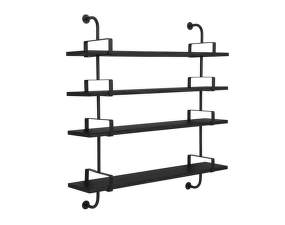 Police Démon Shelf 2, 155cm, 4 shelves, black stained ash