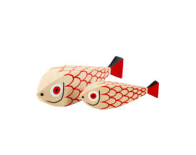 Dekorace Wooden Doll Mother Fish & Child