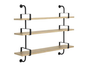 Police Démon Shelf 2, 155cm, 3 shelves, oak