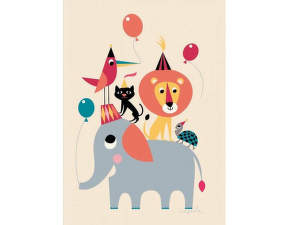 Plakát 50x70 Animal Party