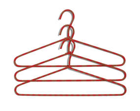 Ramínko Hay Cord Hanger Stripe, red, set 3ks